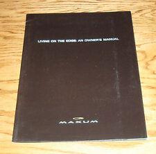 Original 2001 Maxum Boat An Owners Manual Sales Brochure 01