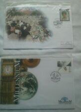 2 x Millennium First Day Covers Kensington 1998 & Greenwich Millennium 1999