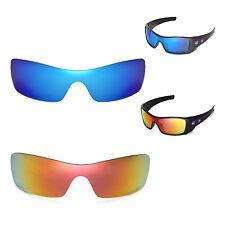 New Walleva Polarized Fire Red + Ice Blue Lenses For Oakley Batwolf Sunglasses