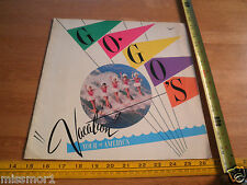 The Go Go's 1982 Vacation concert tour program of America SEXY