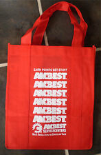 Red AMBEST Truck Stop Reusable Grocery Shopping Tote Bag and Can Cozy