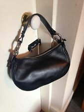 Classic Black Leather Burberry Bag