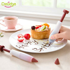 Pastry Cream Chocolate Cake Decorating Syringe Silicone Plate Paint Pen