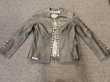 Pre-Owned Harley Davidson Size L Women's Leather Jacket (J)