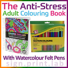 COLOR TERAPIA ANTI-ESTRÉS ADULTO PARA COLOREAR LIBRO 160Pgs CON 20 WATERCOLOR