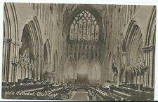 Sepia Vintage Postcard of Wells Cathedral, Choir East. (Frith's)