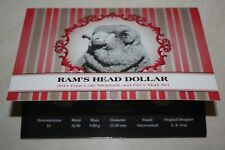 (PL) 2011 AUSTRALIA RAM'S HEAD DOLLAR $1 UNC 4 Coins Set ROYAL AUSTRALIAN MINT