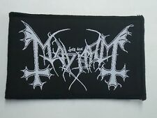 MAYHEM BLACK METAL WOVEN PATCH