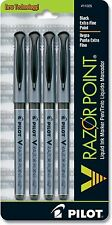 4 Pack - PILOT V RAZOR POINT Liquid Ink Marker - Black Extra Fine