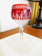 WATERFORD Crystal CLARENDON RUBY Red Wine Hock (S) RETIRED - NICE!