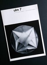 ULM 7 HfG Design School Magazine 1963 Otl Aicher Max Bill BRAUN Modernist Design