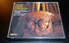 "HANDEL ""Organ Concertos"" [Hyperion] (2-CD 1997) Nicholson/Goodman/Brandenburg VG"