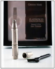 Groom Mate Platinum XL Professional Nose Hair Trimmer - Gift Box & Leather Pouch