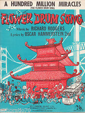 A HUNDRED MILLION MIRACLES Flower Drum Song SHEET MUSIC