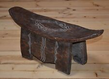 African Bamileke People Tribal Hand Carved Wooden Stool From Cameroon, Africa