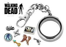 WALKING DEAD Memory Locket DETACHABLE Key Chain Pendant Zombie Floating Charms