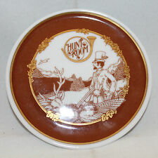 HUTSCHENREUTHER Hunt Room Decorative Brown Gold Small Plate Germany 9.7cm 3 7/8""