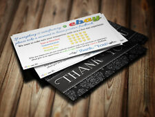 THANK YOU Business Cards ebay Seller 5 FIVE STAR Rating 100 ELEGANT Cards