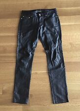 Saint Laurent Paris | Hedi Black Coated  Skinny Jeans | Sz 29 | D01 W/SK-LW