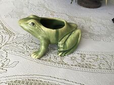 Vintage BRUSH McCOY POTTERY FROG FLOWER PLANTER Excellent condition