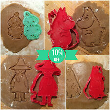 The Moomins Collection - cookie cutters - 4pcs - Plastic 3d printed (PLA)