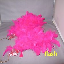 2 HOT PINK FEATHER HANGING CHRISTMAS ORNAMENTS
