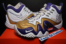 NIKE ID AIR ZOOM FLIGHT FIVE B V RETRO i JASON KIDD WHITE PURPLE GOLD PENNY SZ 9