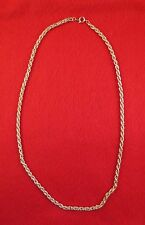 "LOT OF 5 PCS 14KT YELLOW GOLD EP 19"" 3.5MM FLEXIBLE ROPE NECKLACE CHAIN"
