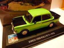 voiture1/43 altaya IXO Simca : 1000 rallye 2 1976