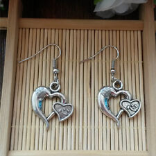Gothic Metal Silver Plated Heart Earrings@3