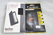 Tech21 D3O Impact Snap Case with Cover for Sony Xperia Z Black free screen prote