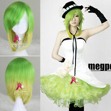 VOCALOID GUMI Megpoid Beautiful Green Gradient Cosplay Party Wig Hair