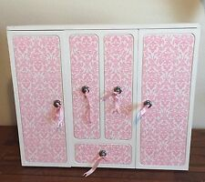 AMERICAN GIRL / OUR GENERATION BATTAT PINK WARDROBE CLOSET ARMOIRE VANITY