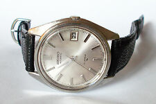 Men's SEIKO AUTOMATIC Watch. 35mm Silver Dial. Date. 17 Jewels. 1970's