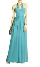 """$368 BCBG BLUE JADE """"STARR"""" HALTER SILK LONG DRESS NWT 4"""