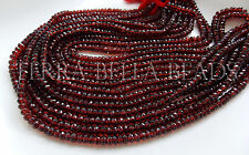 "6.5"" red AAA MOZAMBIQUE GARNET faceted gem stone rondelle beads 5mm"