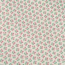 Vintage Concord Small Scale Pink Ivory Floral, Calico Cotton Fabric Per 1/2 Yard