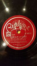 FRANCE 78 rpm RECORD Rythme LE CHANTEUR SANS NOM Soir sur la foret / Tu...