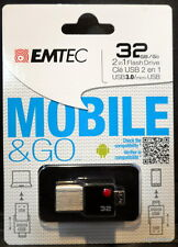 EMTEC - Mobile & Go 32GB USB 3.0 Type A Flash Drive - Black