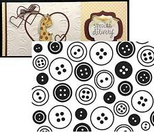 Darice embossing Folders BUTTONS 1218-10 Embossing Folder Cuttlebug Compatible