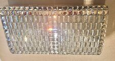 Crystal Evening Clutch Bag Purse w/ Gold accent & chain White, Silver NWT