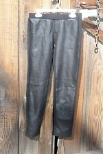NWT Tahari Girl's Solid Black Leggings with Textured Front, Size Large