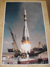 SOYUZ ROCKET LAUNCH POSTER 36x22 HI RES