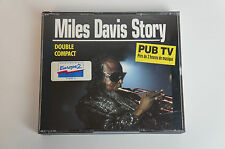 Miles Davis Story 2cd's pub TV DOUBLE Compact, BUONO STATO (BOX 45)