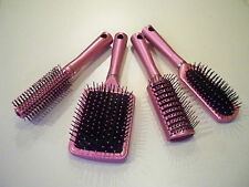 Professional Hair Brushes - Set of 4, Good Quality in Pink