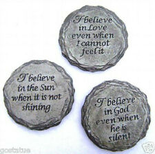 3 inspirational small religious plaque molds plaster cement resin wax soap mold