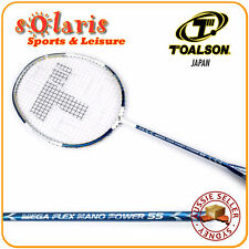 TOALSON MEGA FLEX NANO POWER 55 Full Graphite Pro Badminton Racket Strung