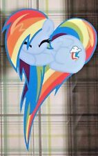 Rainbow Dash - MLP Pony Heart Fan Art Decals Stickers for cars and laptops
