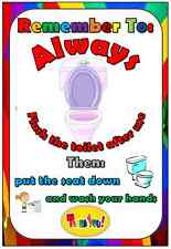 flush the toilet poster A4 childminder teacher  poster  EYFS childcare
