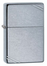 Zippo 267, 1937 Replica, Street Chrome Finish Lighter, **6 Extra Flints & Wick**
